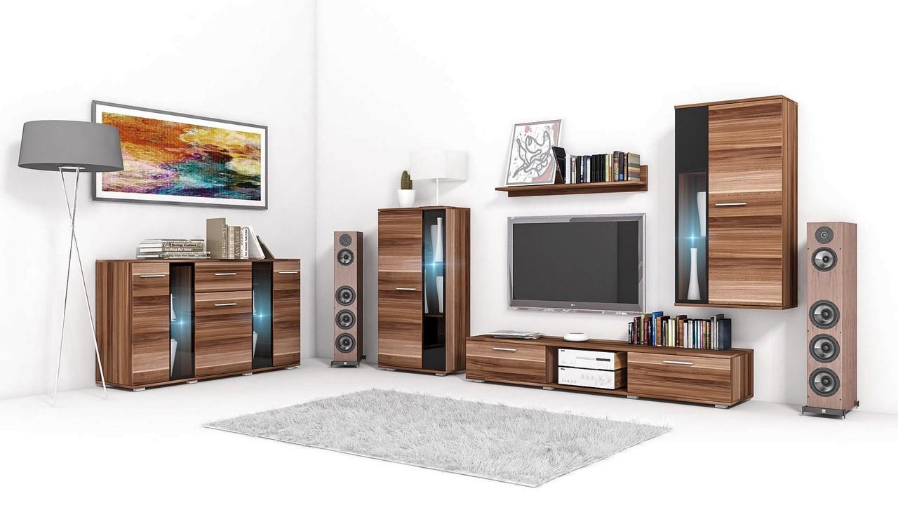 Best Wohnzimmer Set Wohnwand Und Kommode Salsa Pflaume With Kommode Set