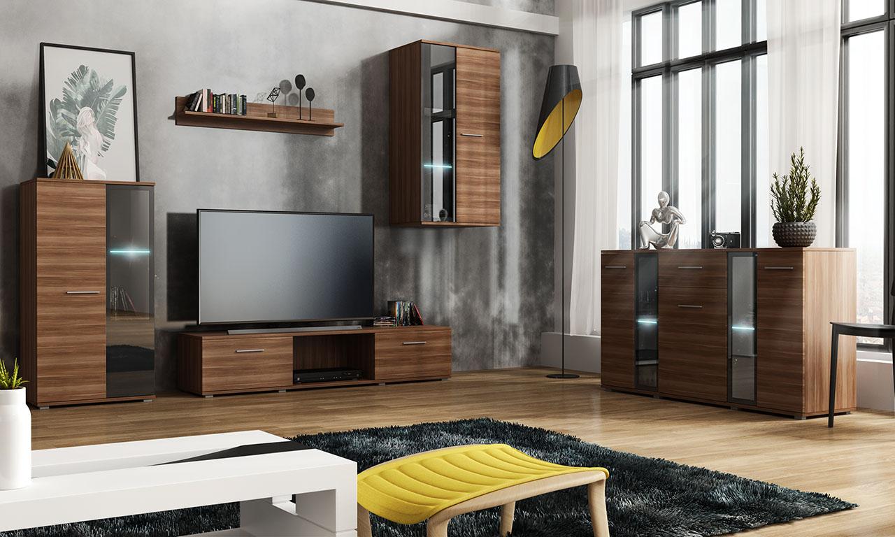 Wohnzimmer Set   Wohnwand Und Kommode SALSA Weiß