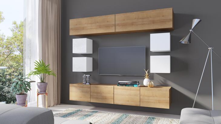wohnwand calabria 10 moebline de. Black Bedroom Furniture Sets. Home Design Ideas