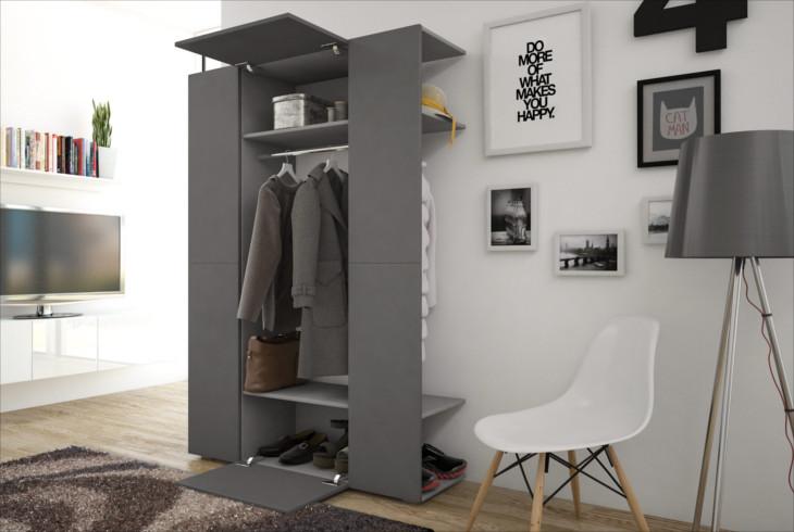 Garderobe grau affordable full size of bankflur pinterest for Garderobe xpress